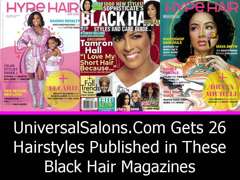 UniversalSalons.Com Gets 26 Hairstyles Published