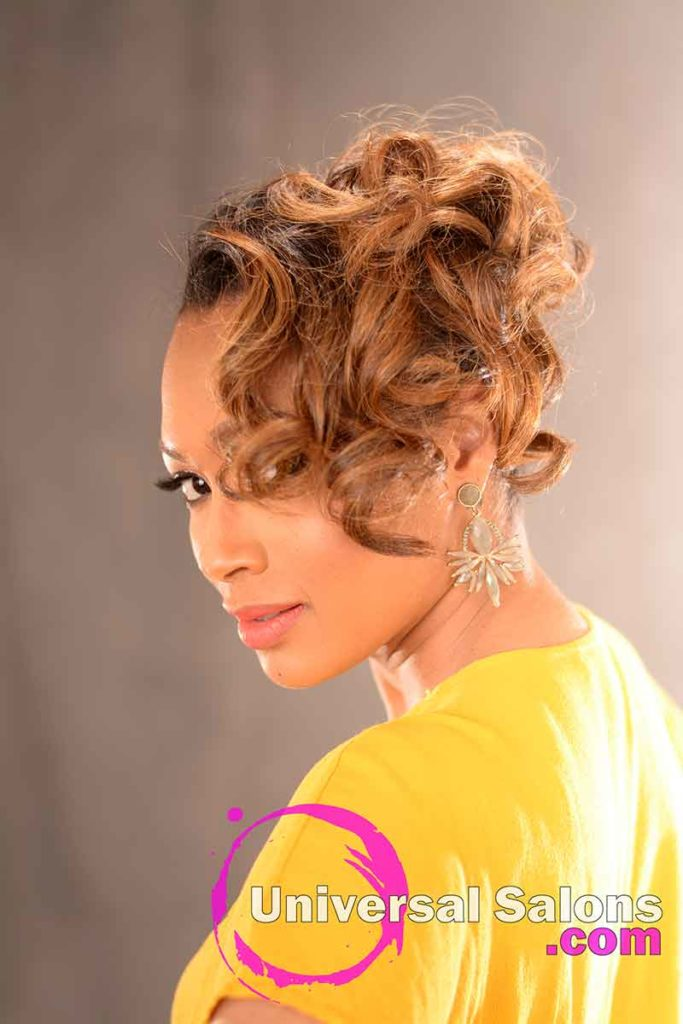 2nd Left View: Chic Pin Curl Updo from Kevin Quattlebaum in Columbia, SC
