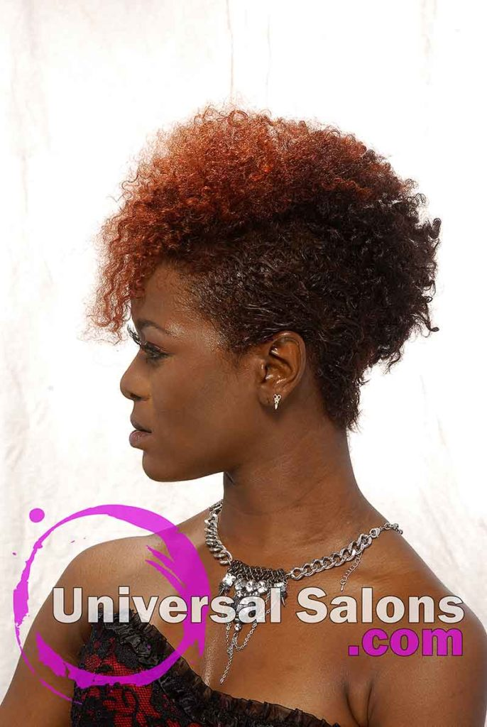 Curly Mohawk with Hair Color from Deirdre Clay