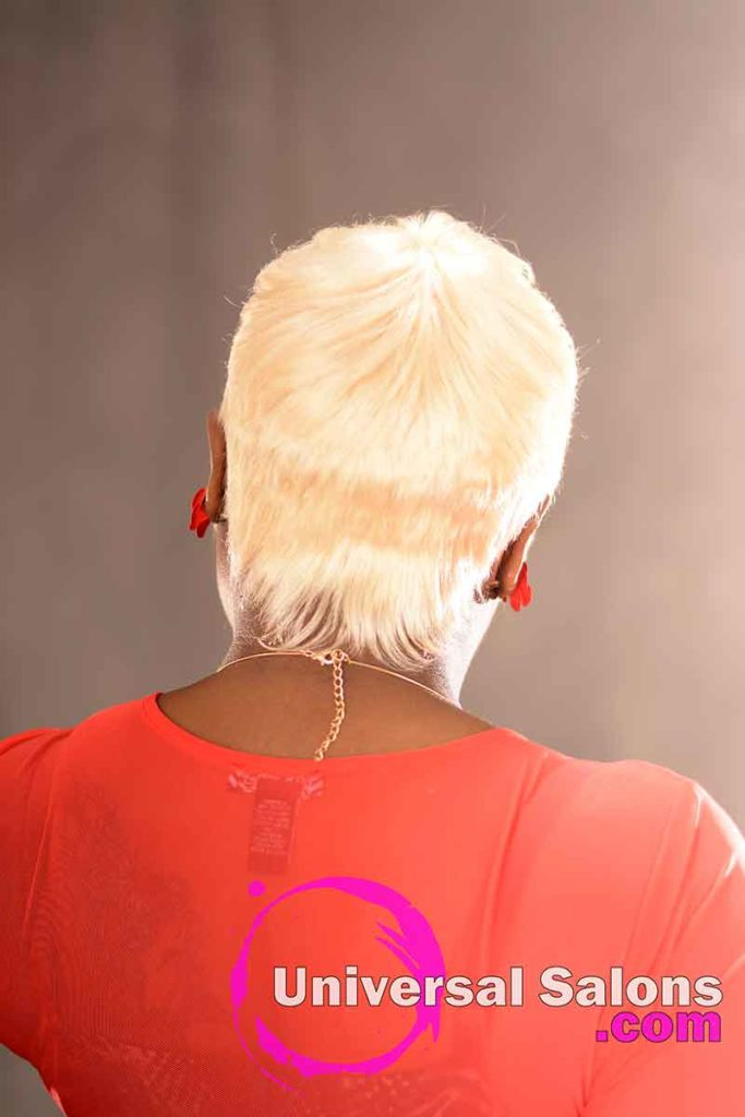 Back View: Cute Quick Weave Pixie Haircut from DeVante' Brassley Green in Irmo, SC