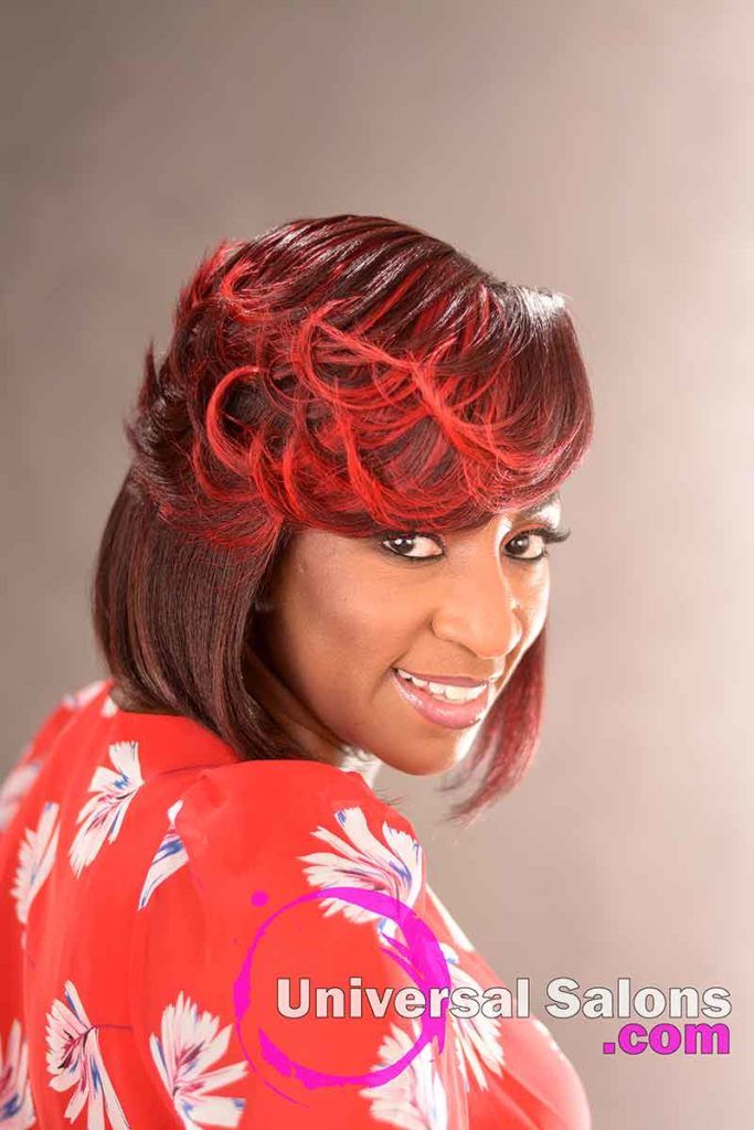 Right View: Elegant Bob Hairstyle for Black Women by Deedra Mcleod in Hartsville, SC