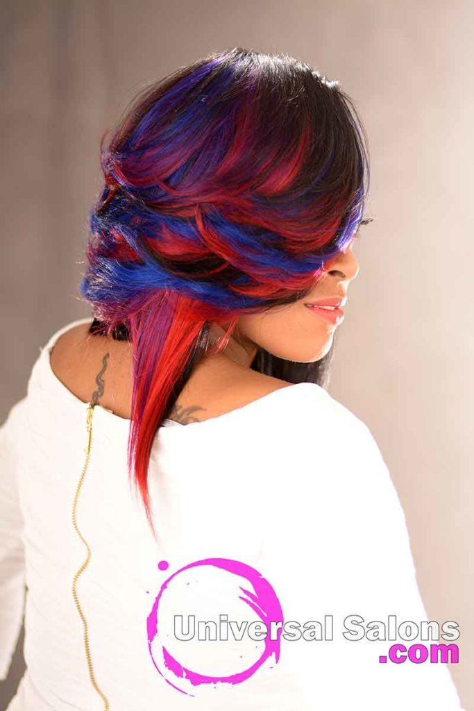 Right View: Incredible Quick Weave Bob Hairstyle by DeVante Green from Irmo, SC