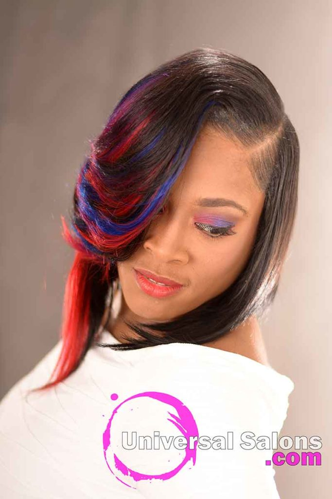 Front View: Incredible Quick Weave Bob Hairstyle by DeVante Green from Irmo, SC