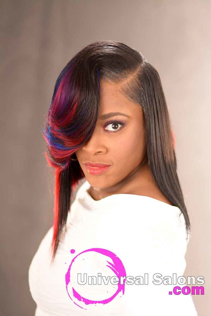 2nd Front View: Incredible Quick Weave Bob Hairstyle by DeVante Green from Irmo, SC