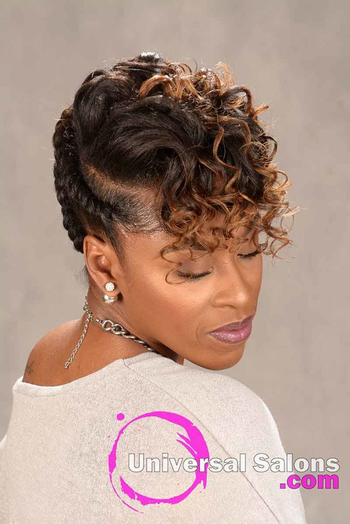 Natural Hairstyle with Braids and Twists from Sess Cannon
