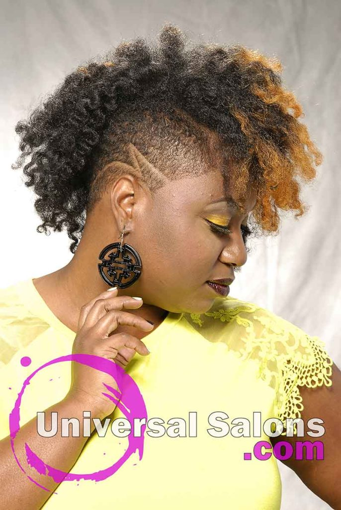 Naturally Fierce Curly Hairstyle from Lanika Saunders