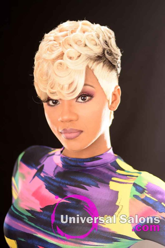 Front: Pin Curls Hairstyle for Black Women by Marquita Briggs in Columbia, SC