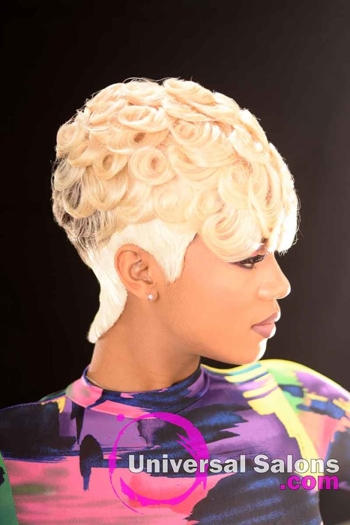 Right: Pin Curls Hairstyle for Black Women by Marquita Briggs in Columbia, SC