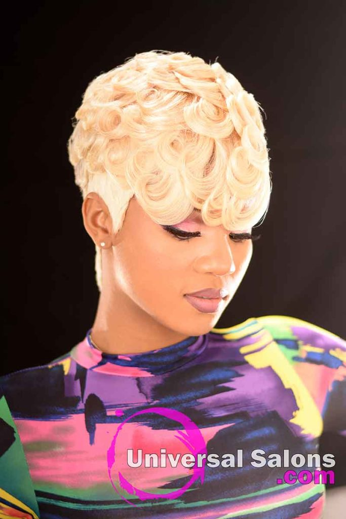 Right Front: Pin Curls Hairstyle for Black Women by Marquita Briggs in Columbia, SC