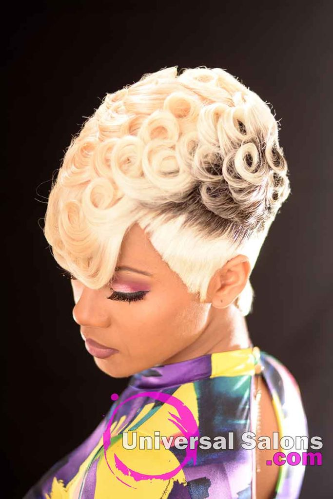 Left Down: Pin Curls Hairstyle for Black Women by Marquita Briggs in Columbia, SC