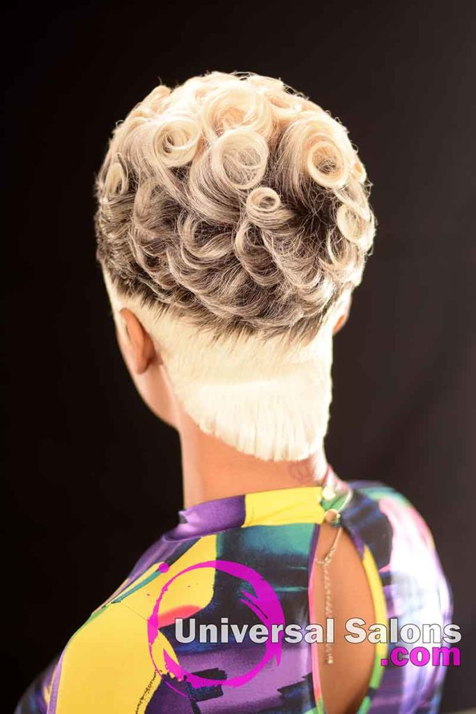Back: Pin Curls Hairstyle for Black Women by Marquita Briggs in Columbia, SC