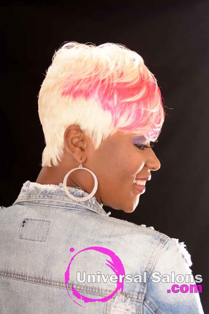 2nd Right View: Platinum Blonde Quick Weave Hairstyle from Carla Harris in Columbia, SC