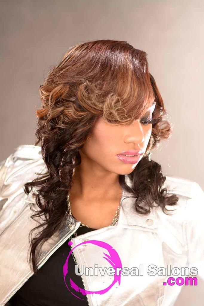 Right View: Stunning Quick Weave Hairstyle from Marquitta Briggs in Columbia, SC