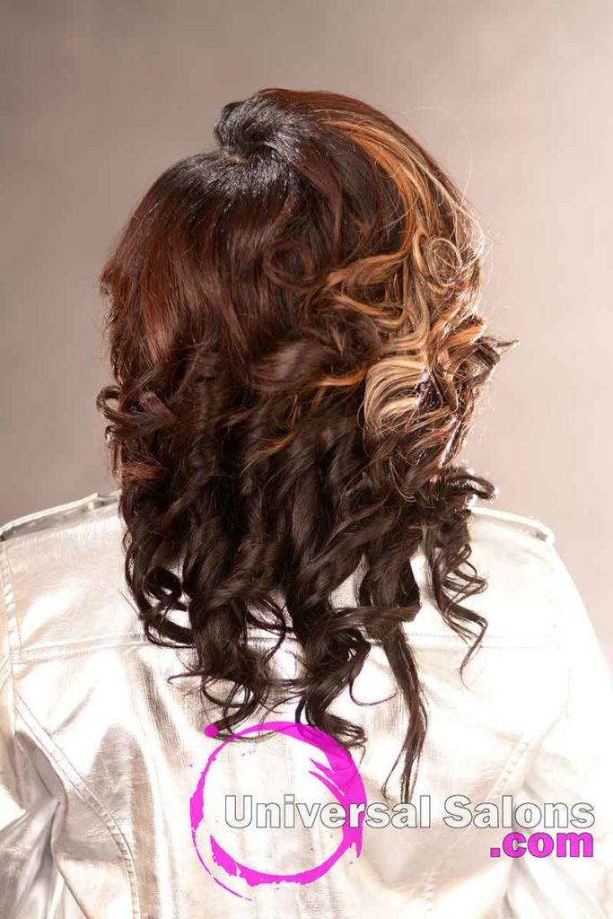 Back View: Stunning Quick Weave Hairstyle from Marquitta Briggs in Columbia, SC