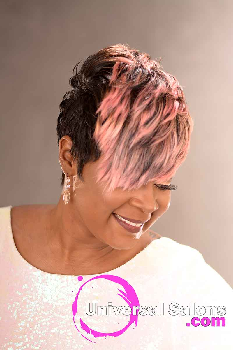 Right View: Fierce Pixie Hairstyle for Black Women from Yvette Alston in Columbia, SC