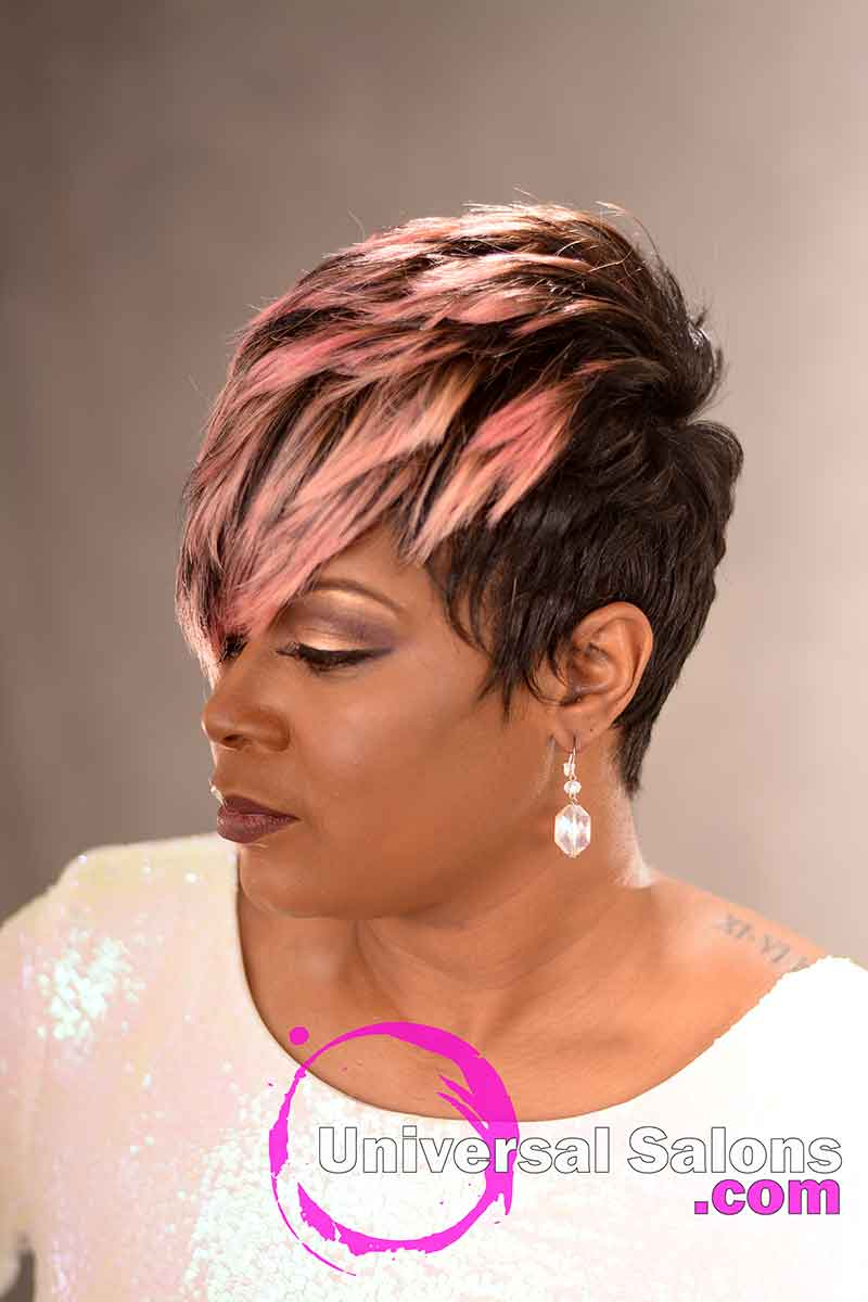 Left View: Fierce Pixie Hairstyle for Black Women from Yvette Alston in Columbia, SC