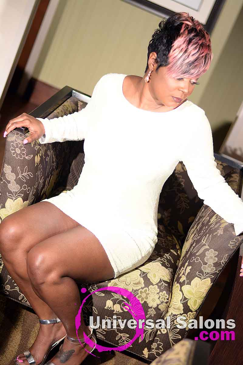 3/4 View: Fierce Pixie Hairstyle for Black Women from Yvette Alston in Columbia, SC