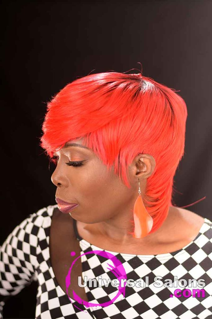 2nd Right View: Fire Red Quick Weave Hairstyle from Yvette Alston in Columbia, SC