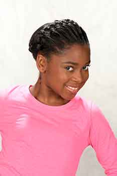 Right View: French Braids Black Hairstyle for Little Girls