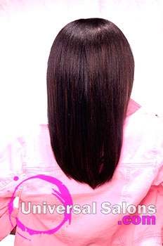 Back View: Pink Sensation Kid's Hairstyle