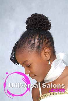 Right View: Braided Updo Black Hairstyles for Little Girls