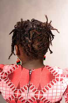 Back View: Short Twists for Kids Black Hairstyles for Little Girls