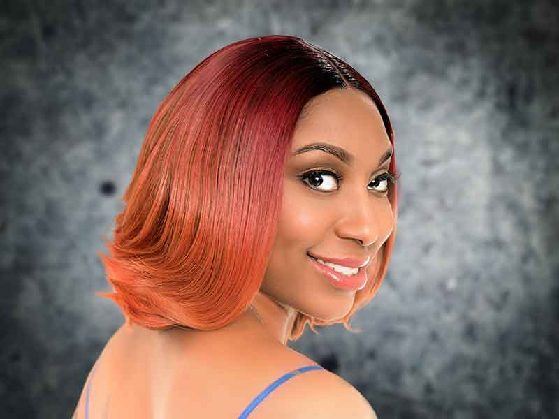 Spicy Red Sew In Bob Hairstyle from Samantha Fields in Greensboro, NC