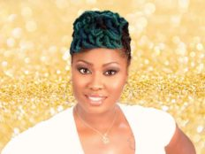 Short Locks Updo Hairstyle With Aquamarine Hair Color