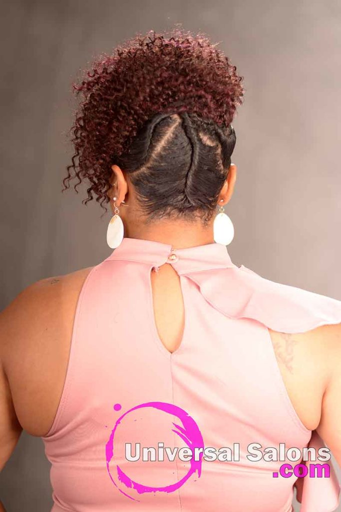 Back View Curly Updo Hairstyle for Black Women
