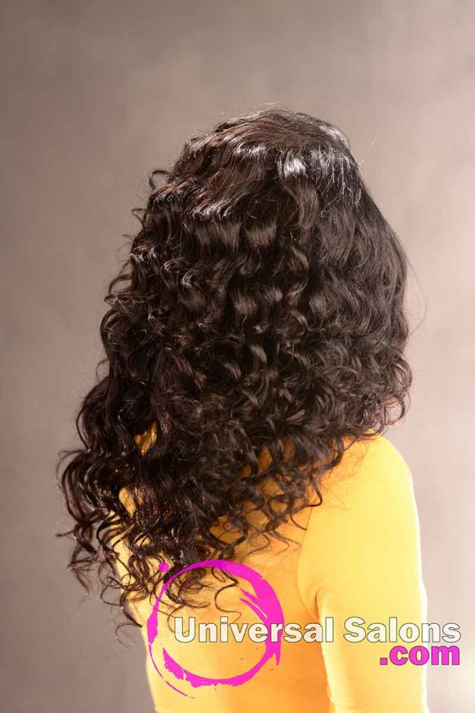Back View of a Long Hairstyle for Black Women