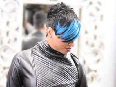 Short Brush Cut Hairstyle With a Swoop Bang