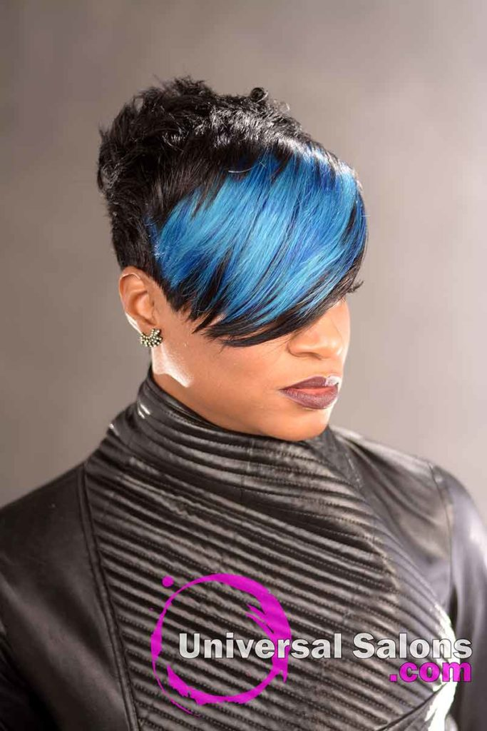 Black Hairstyle With a Swoop Bang from Rose Smith