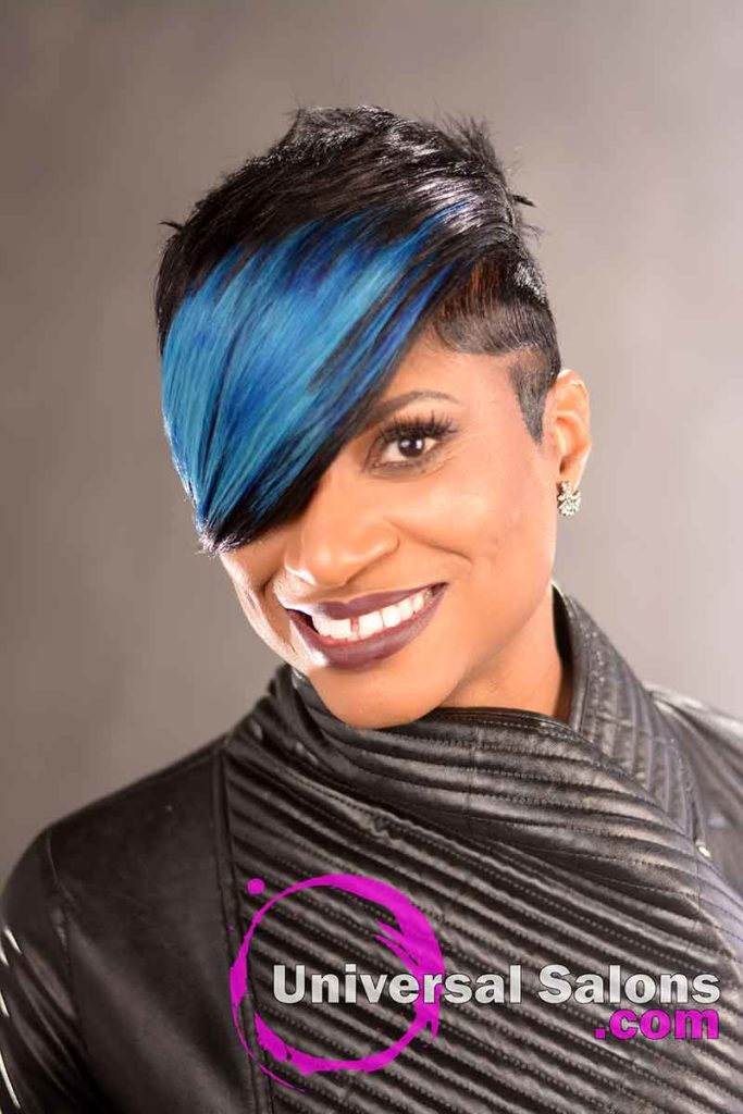 Swoop Bang Peek-a-Boo Hairstyle for Black Women