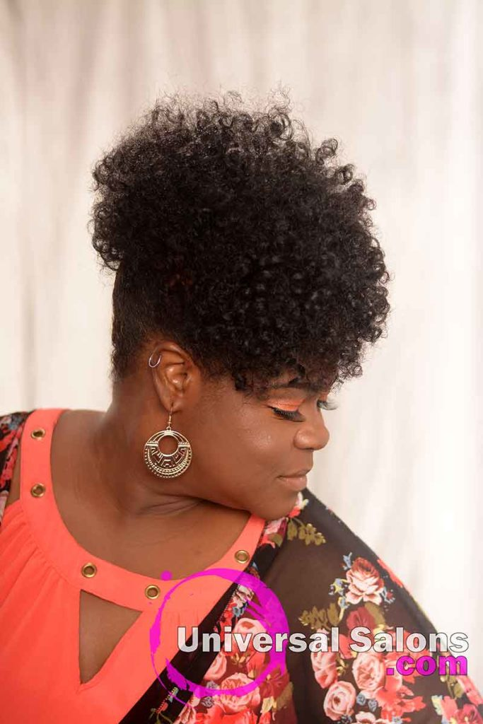Right View Of a Curly Updo Hairstyle