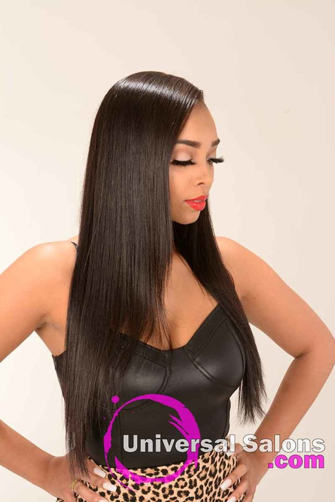 Another Right View of a Long silk Press Hairstyle