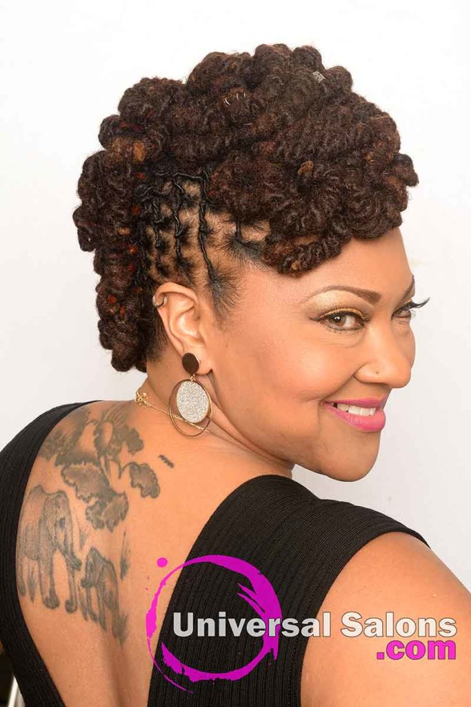 Permanent Loc Extensions With Pipe cleaner Curls
