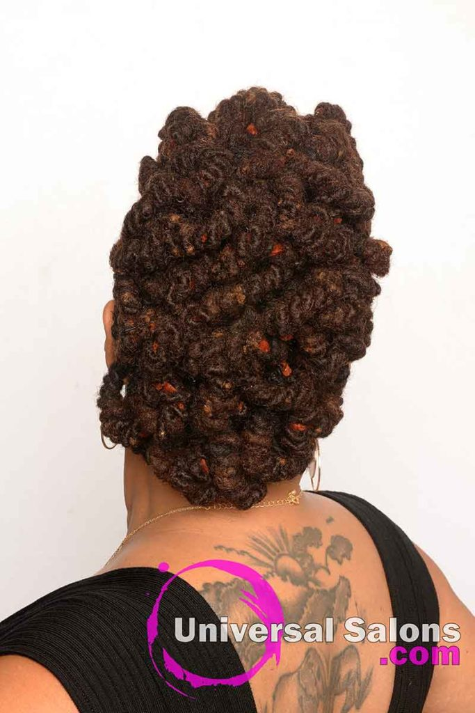 Back View of a Permanent Locs Hairstyle
