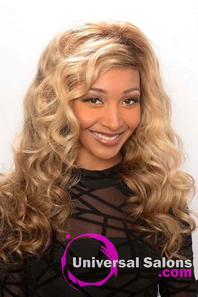 Long Lace Front Wig With Wand Curls