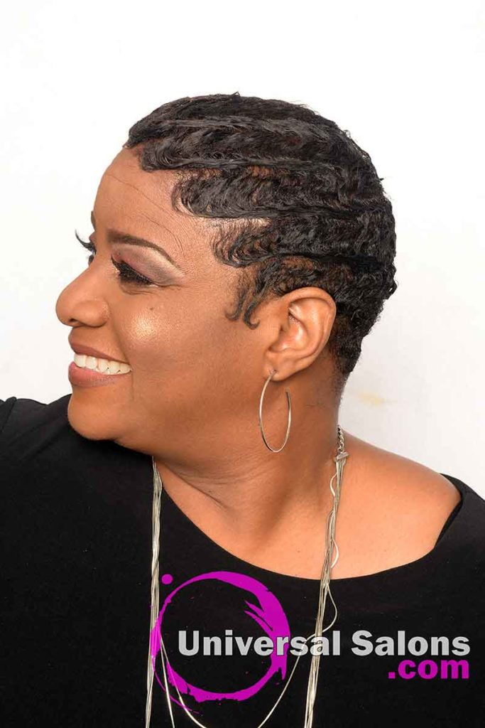 Right View: Finger Waves With Color and Haircut
