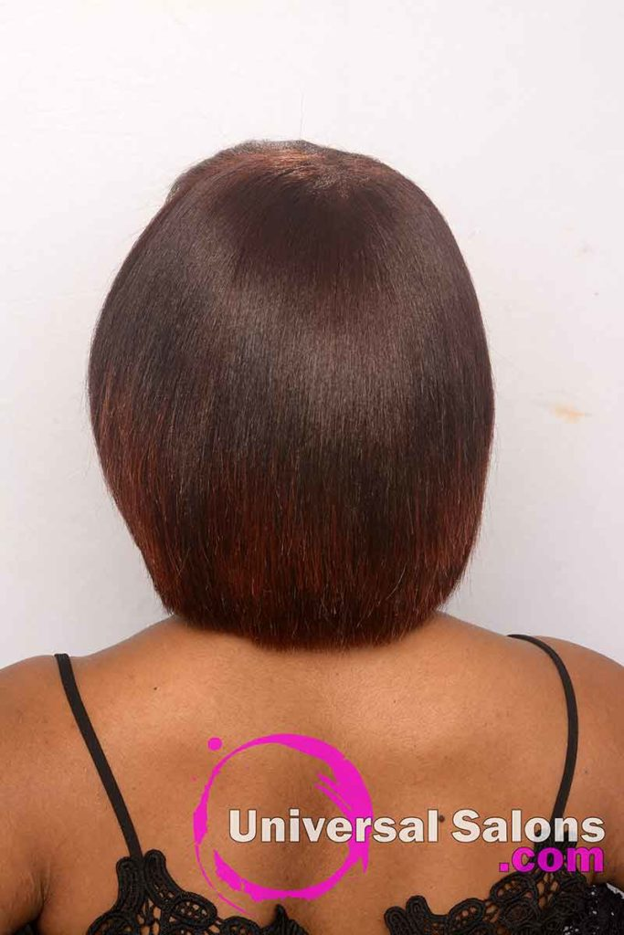 Back View of a Natural Hairstyle With Color