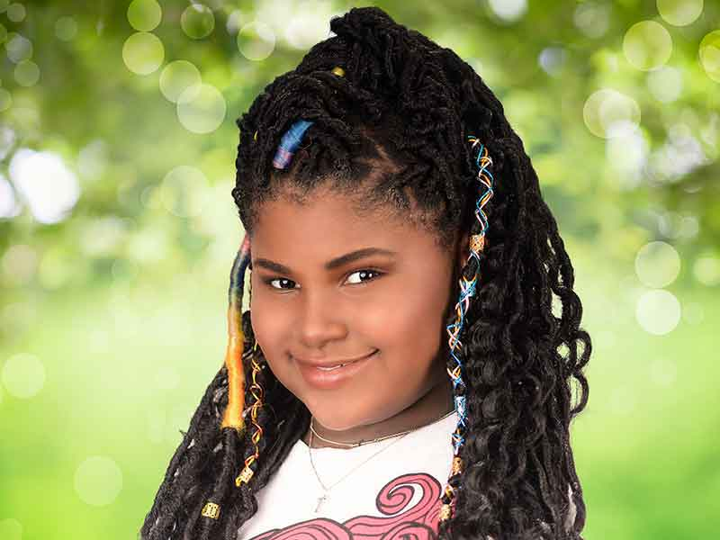 Beautiful Faux Locs Kid's Hairstyle