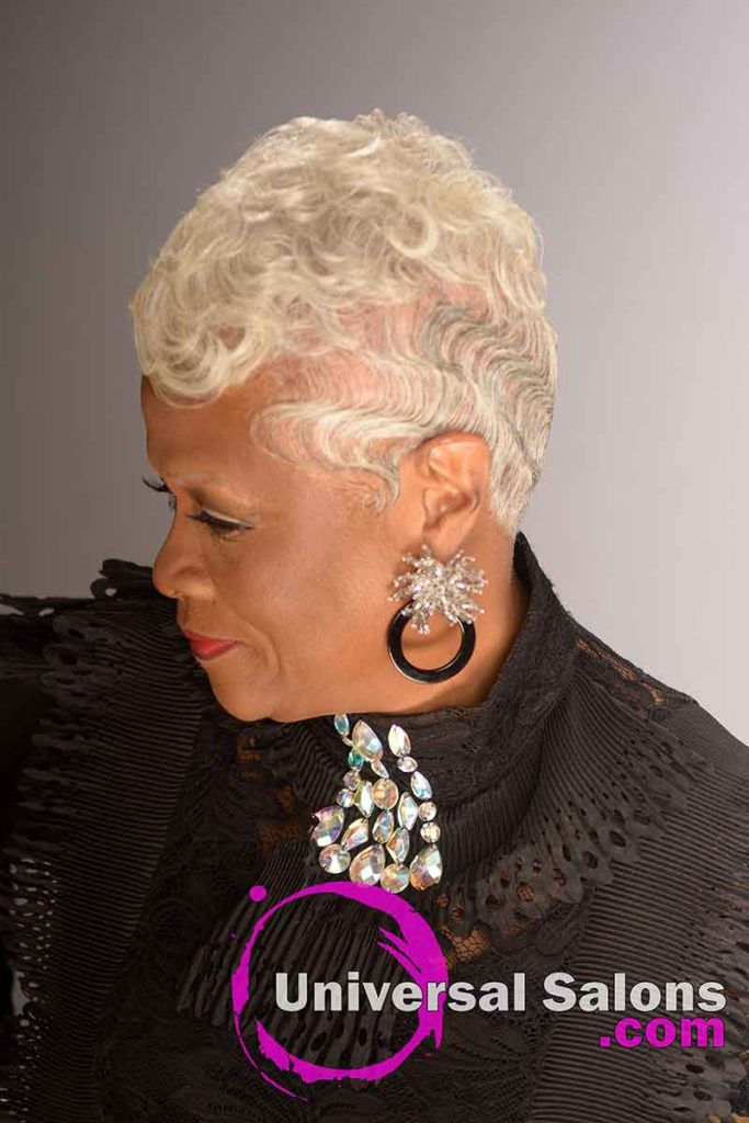 Silver Haircut With Finger Waves for Women Over 60