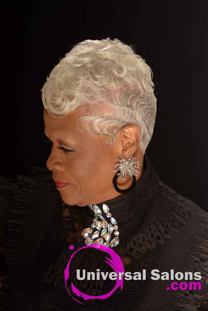 Senior Model With Silver Hair and Finger Waves