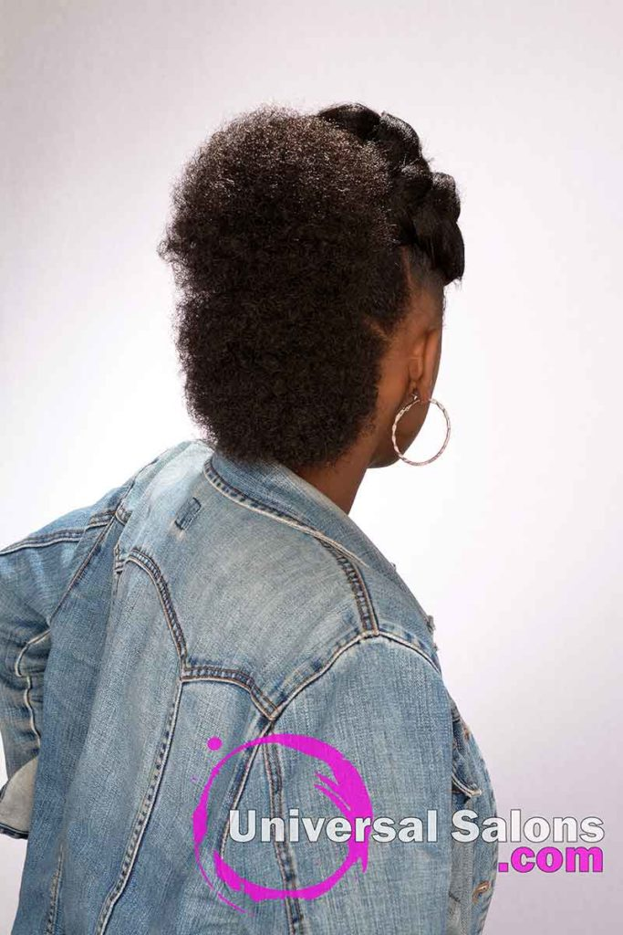 Back View of a Afro Mohawk Hairstyle