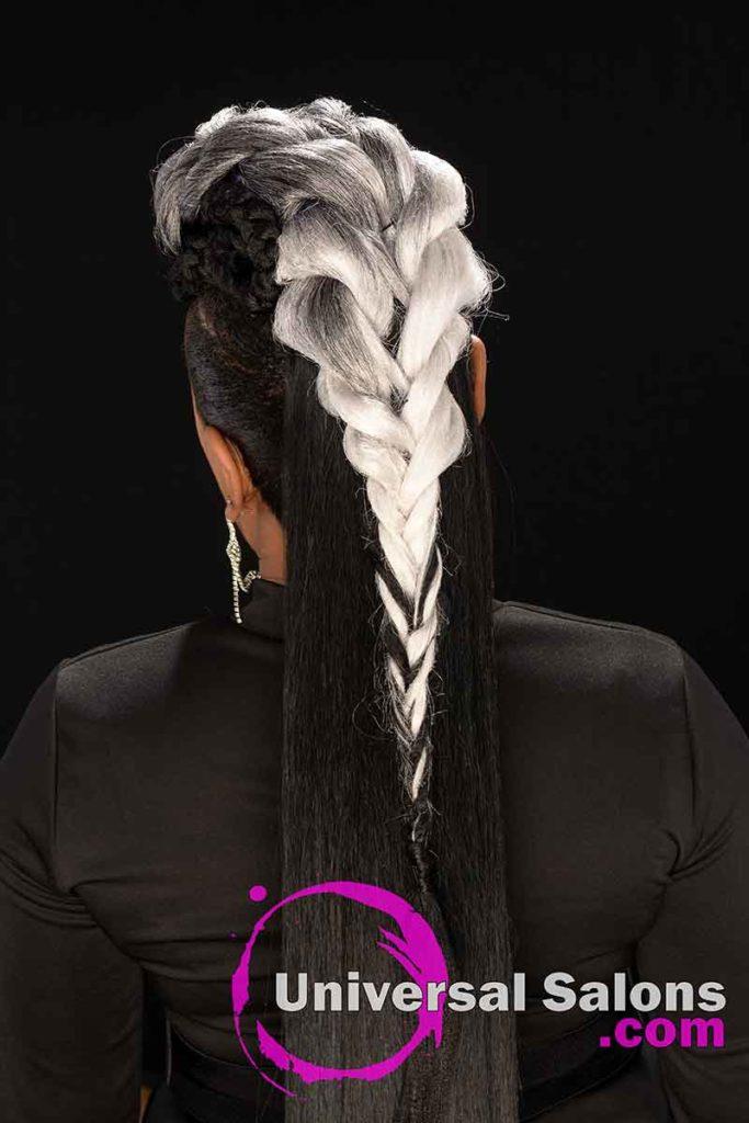 Back Viw Long Ponytails for Black Women