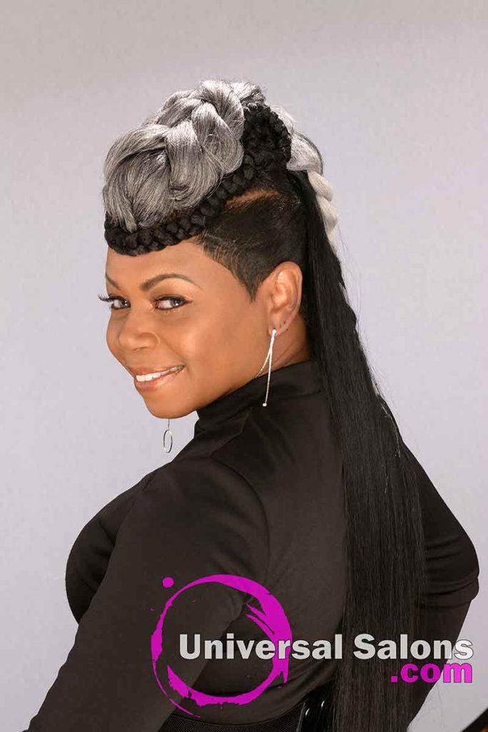 Left View Long Ponytails for Black Women
