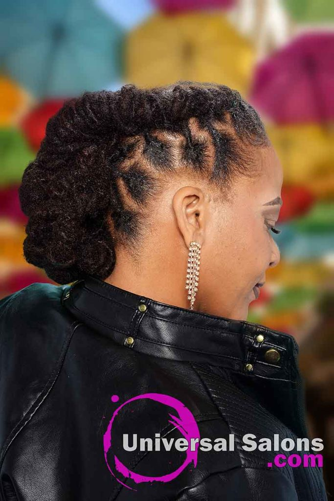 Back View of a Locs Hairstyle