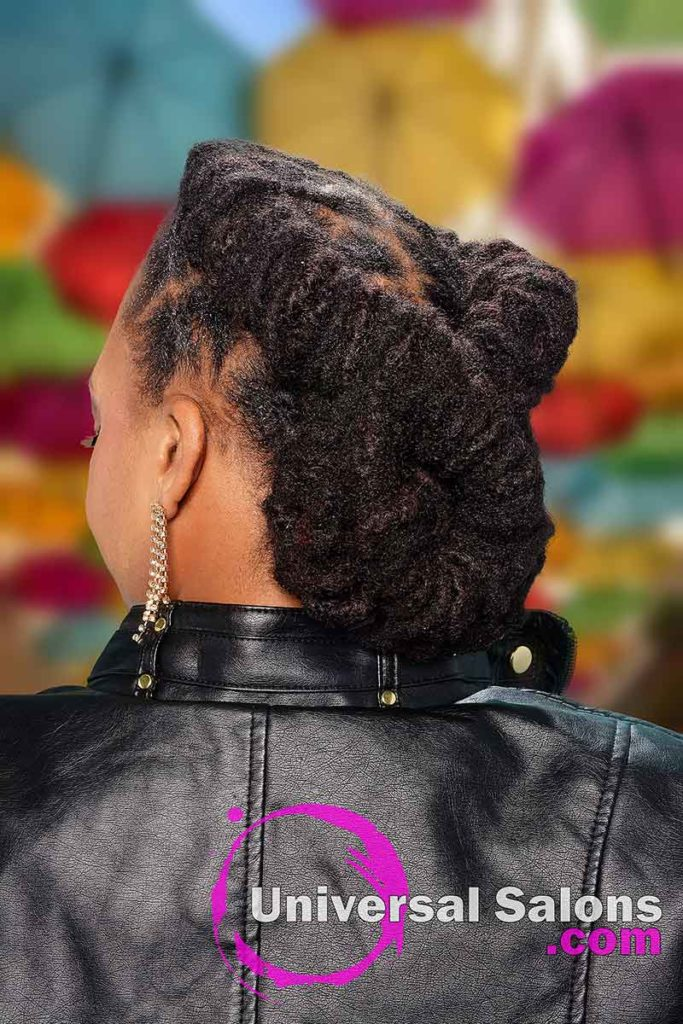 Back View Chignon Bun Locs Hairstyle