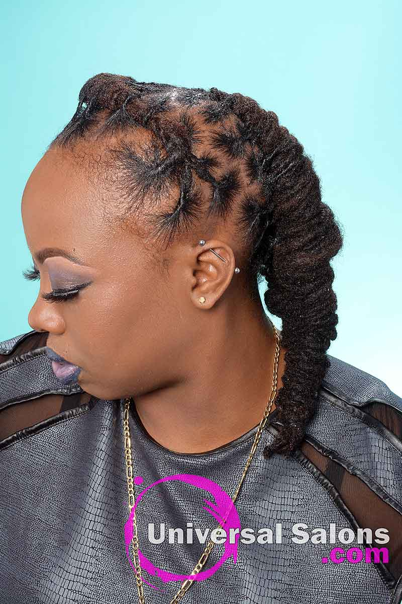 Right View Locks Hairstyle