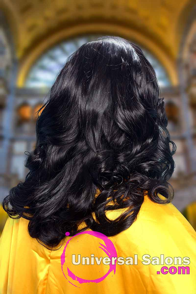 Back View of Long Hairstyle With Soft Curls